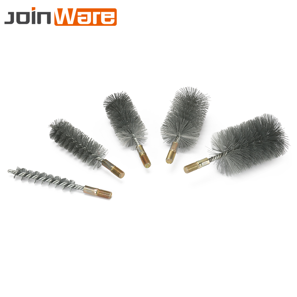 40mm Brush Dia 16cm Length Copper Wire Tube Brushes Cleaning Tool 2pcs