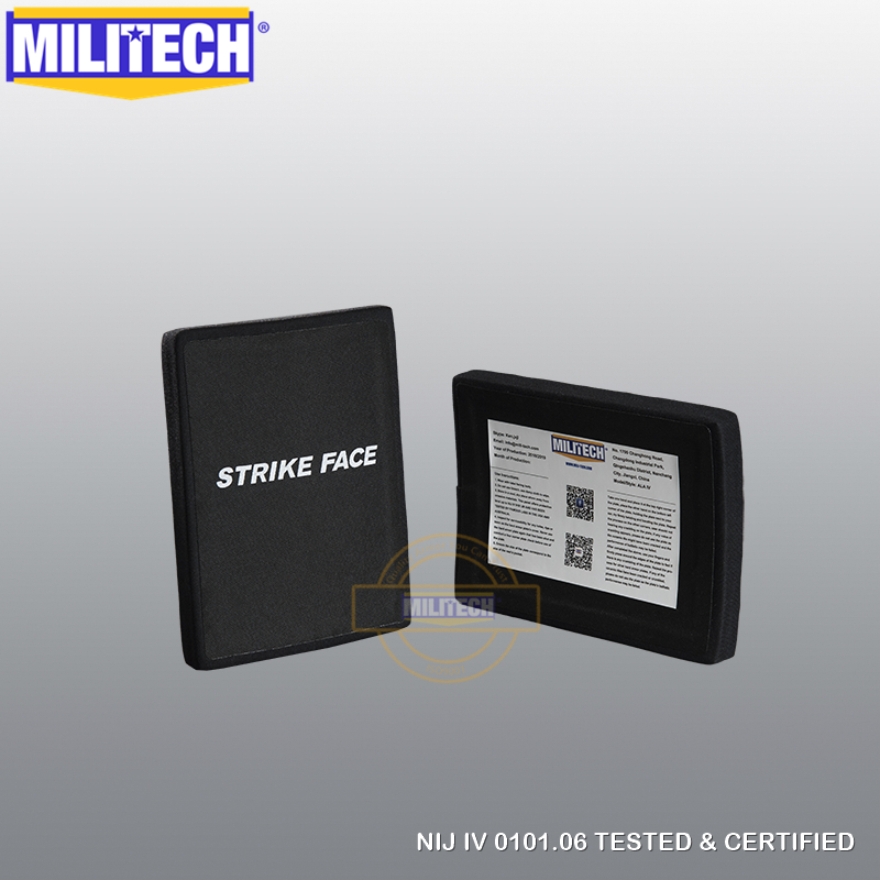 MILITECH 6'' X 8'' Two Pieces Set SIC & PE NIJ IV 0101.06 Bulletproof Plate ESAPI LEVEL 4 Stand Alone Ballistic Side Panel SAPI