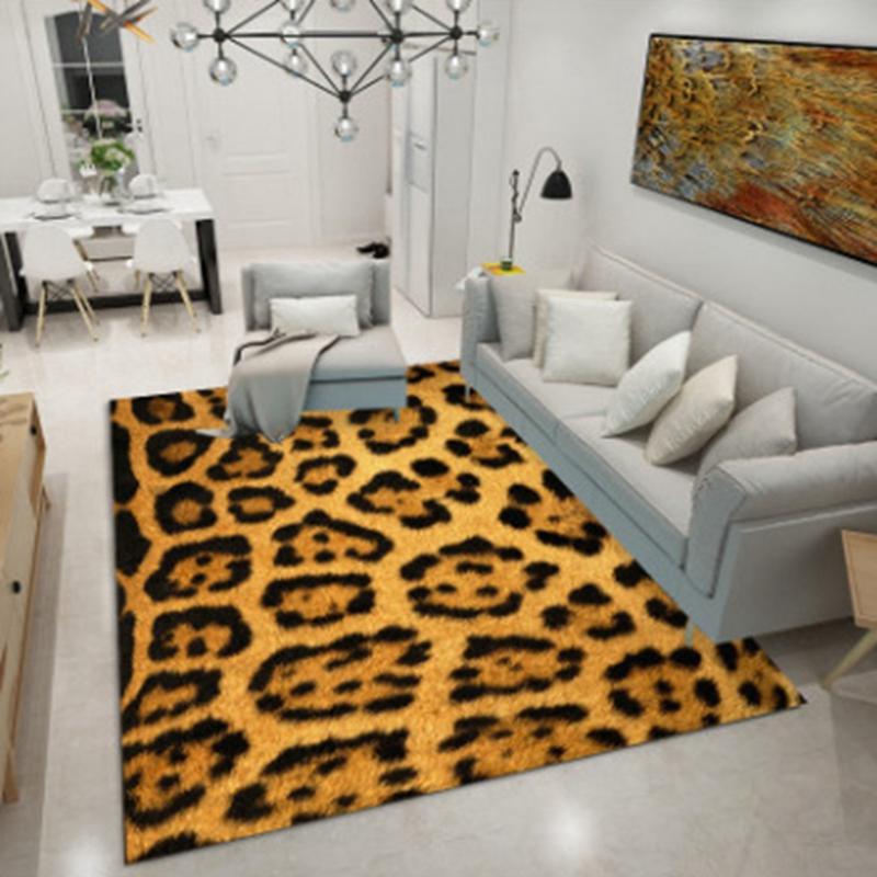 Geometric Leopard Printed Carpets Area Rugs For Living Room Bedroom Home Decor Parlor Carpet Floor Door Mat Decoartive Tapete