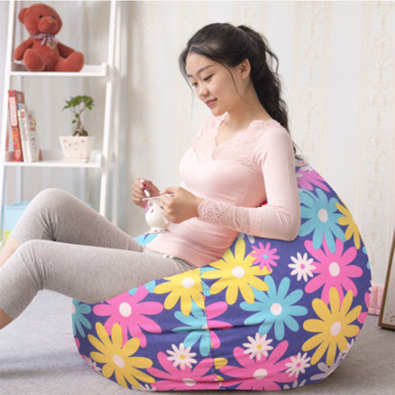 Bean Bag Cover For Adult Lounger Chair Living Room Outdoor Pouf Puff Seat Home Furniture Sitzac Beanbag Cover Without Filliing custom pe garden chaise longue cover sun lounger cover beach swing pool lying chair cover dormette outdoor furniture cover