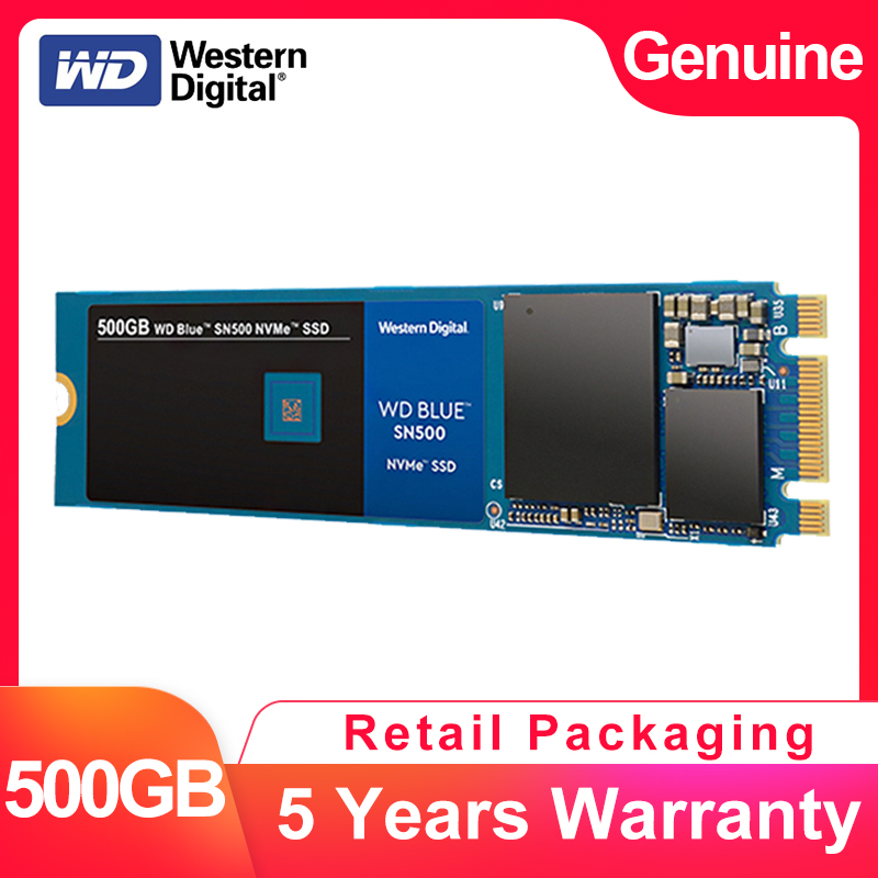 WESTERN DIGITAL WD BULE SN500 SSD 500GB M.2 2280 NVMe PCIe Gen3*2 Dual Channel Internal Solid State Drive For PC Laptop NoteBook-in Internal Solid State Drives from Computer & Office    1