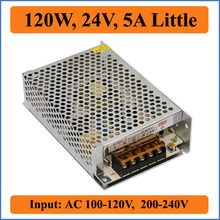 120W 24V 5A Little Switching Power Supply AC 100~240V to Single DC output 24V Converter Voltage Transformer for LED Strip light