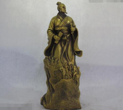 Chinese military strategist Grandson Sun Zi army general Brass Copper Statue