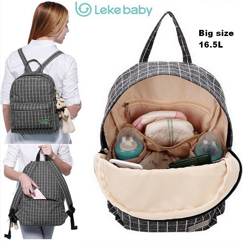2018 Large capacity Diaper Bag multi-functional mother package bags Fashion mummy bag shoulders Plaid baby Nappy Bag Organizer functional capacity of mango leave extracts