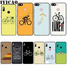 IYICAO bicicleta deporte Coqu silicona suave caso para Xiaomi Redmi 6A 5A Nota 8 7 4 4X 5 Plus 6 Pro negro TPU cubierta