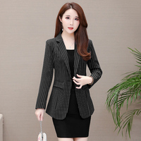 New women's jacket striped small suit in the long suit Slim casual OL business wear Blazers jacket JQ919