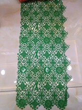 wholesale price lace 2018 African fabric Renda French tulle for dress cloth green 5 yard/lot ZC4