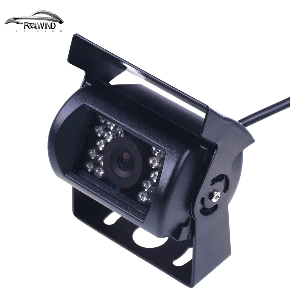 Bus HD CCD Auto Achteruitrijcamera Reverse backup Camera achteruitrijcamera parking 120 Graad 18 IR Nightvision Waterdichte Bus Truckcamera