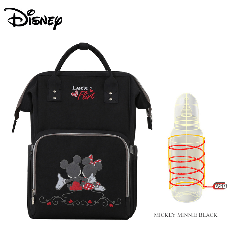 Disney Upgraded version Thermal Insulation Bag High-capacity Baby Feeding Bottle Bags Diaper Bags Oxford USB Insulation Bags disney new upgraded version mickey and minnie insulation bag top capacity baby feeding bottle bags diaper bags oxford usb bags