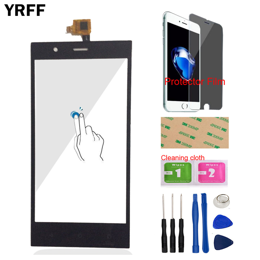 5.0'' Mobile Front Glass For Highscreen Boost 3 Boost3 Touch Screen Digitizer Panel Glass Sensor Tools + Protector Film Adhesive