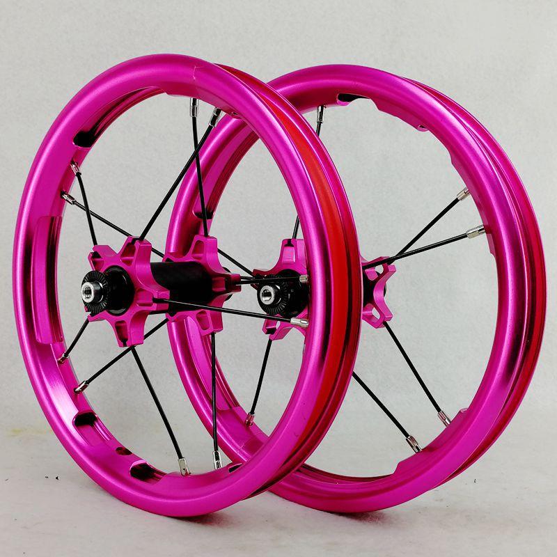 PASAK Sliding Bike Wheelset 12inch Straight-pull Bearing BMX Children Kids' Balance Bicycle Wheels 85mm 95mm BMX