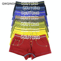7PCS/Lot Sexy Boxers Cotton Men Underwear Comfortable Long Leg Short Leg Men's Boxers Shorts Male Underpants Man Underwear