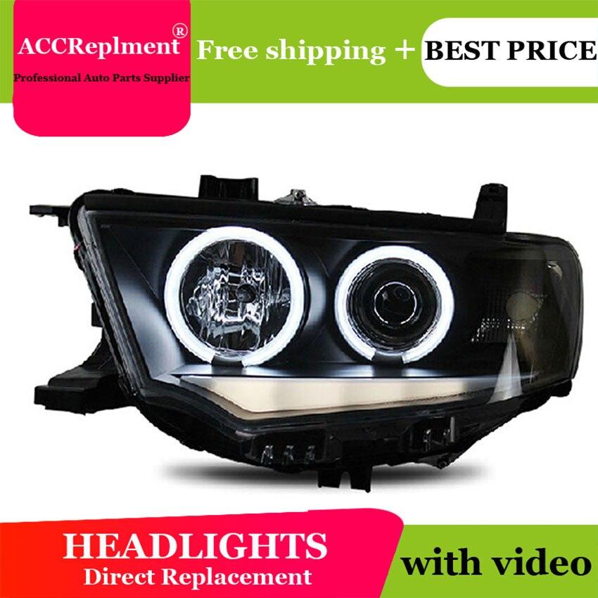 Car Styling For Mitsubishi Pajero headlights 2000-2012 Pajero V73 led headlight turn signal drl H7 hid Bi-Xenon Lens low beam