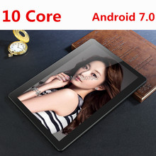 Android 7.0 10 inch tablet Deca Core 4GB RAM 64GB ROM 4G FDD LTE 1920×1200 IPS 8.0MP Dual SIM Cards GPS Tablet 10.1 Free Gifts