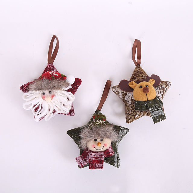 Us 3 56 1pcs Christmas Ornaments New Mini Star Pillow Christmas Tree Ornaments Hanging Decorations Scene Decorations Supplies In Pendant Drop
