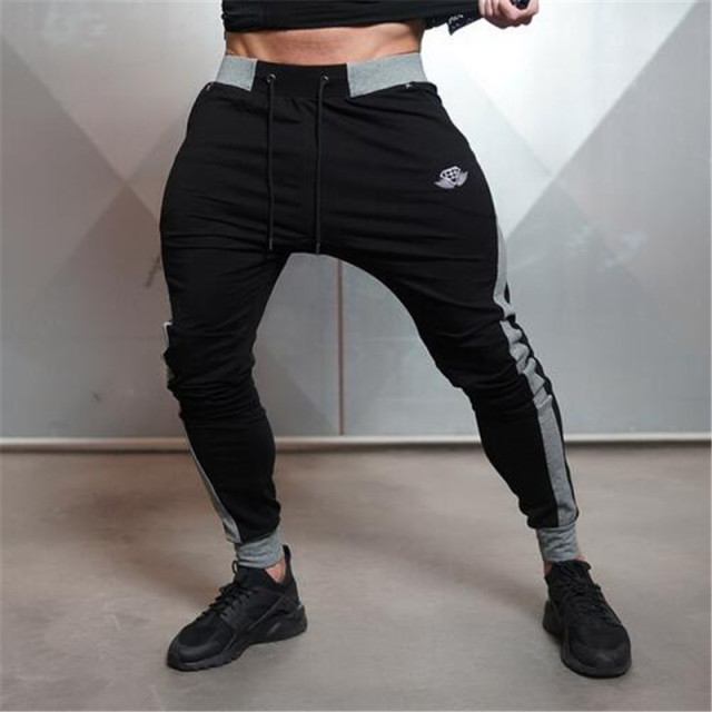 Fashion Brand Men Bodybuilding Jogger Sportwear Pants Slim Trousers Midweight Sweatpants For Runner