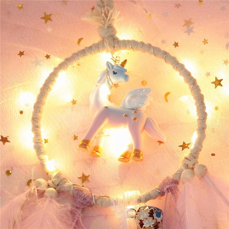 Lighting Pastel Unicorn Dreamcatcher 1