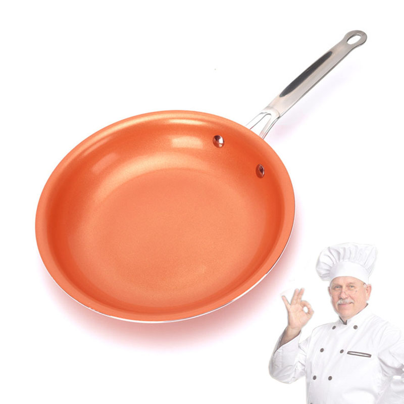 Non-stick Skillet Copper Red Pan Ceramic Induction Skillet Frying Pan Saucepan Oven Dishwasher Safe 10 11 Inch Nonstick Skillet