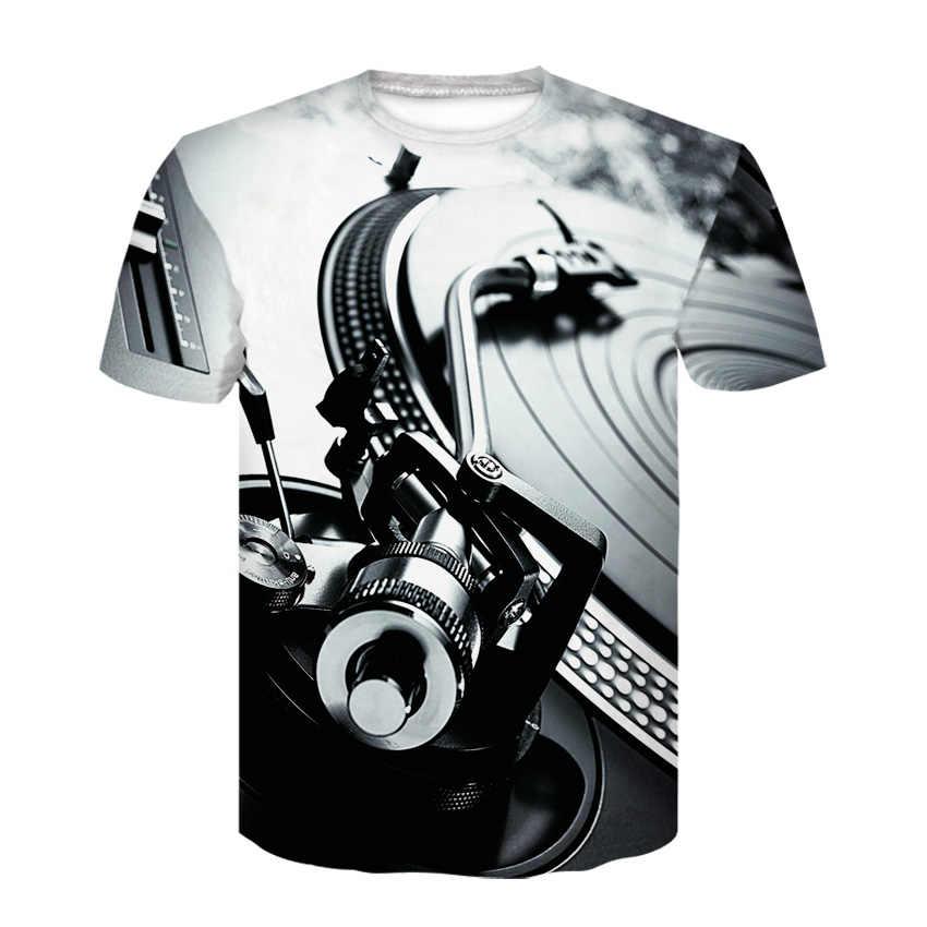 Футболка с 3D принтом черепа и цветочным принтом черные модные футболки с короткими рукавами и розами Топы в стиле панк-рок, хлопковая Мужская футболка, большие размеры