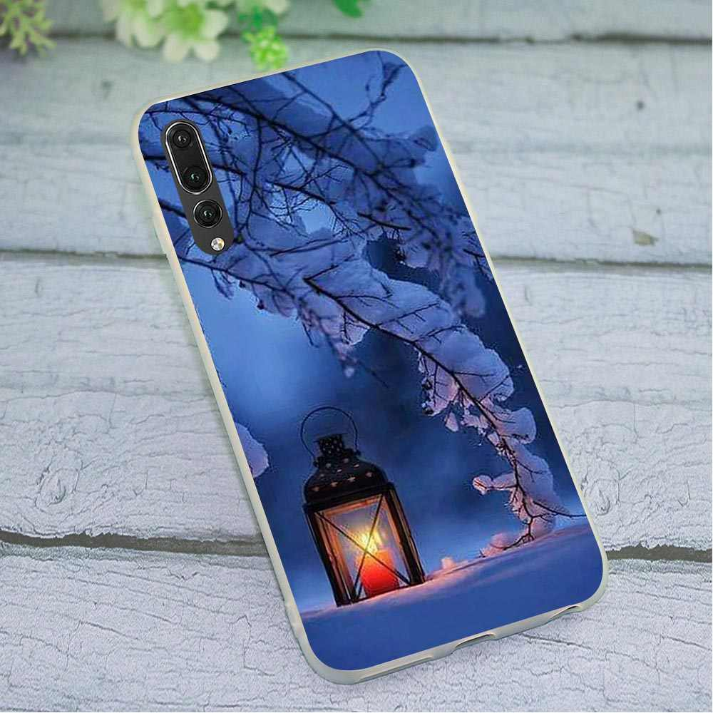 Capa de Silicone TPU macio para Caso de Telefone Huawei P30 Pro Paisagem da Neve do Inverno para o Companheiro 20 10 P8 P9 P10 lite P20 P Inteligente 2018 2019