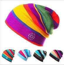 купить 2017  men winter hat boy knitted beanie hats for men beanies warm caps gorro russian ushanka wool warm cap bone по цене 473.5 рублей