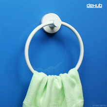 2016 Dehub Super Suction Cup Towel Ring Bathroom Hand Holder Round Accessories White