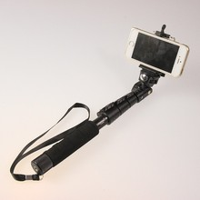 Top Quality YunTeng 088 Monopod For Gopro Monopod Tripod+Phone Holder For iPhone Gopro Hero Camera HD