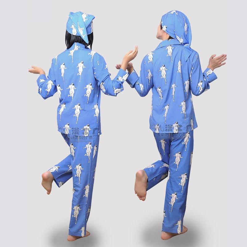 Attack on Titan Shingeki no Kyojin Cosplay Costume Pajamas Costumes Suit Survey Corp Eren William Sleepwear+cap