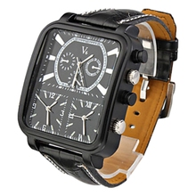 V6 Men's fashion Square Quartz Wrist Watch balck