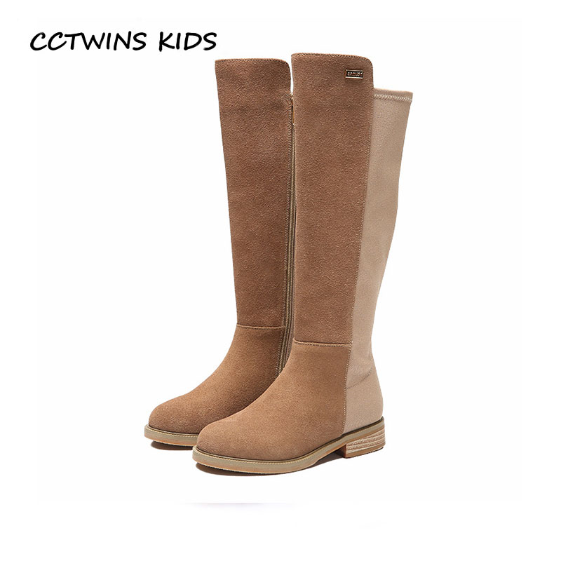 CCTWINS KIDS 2018 Winter Children Genuine Leather Shoe Baby Girl Over The Knee Boot Toddler Fashion Princess Black Boot H027 cctwins kids 2017 children brand high boot kid fashion over the knee boot baby girl toddler genuine leather black shoe c1312