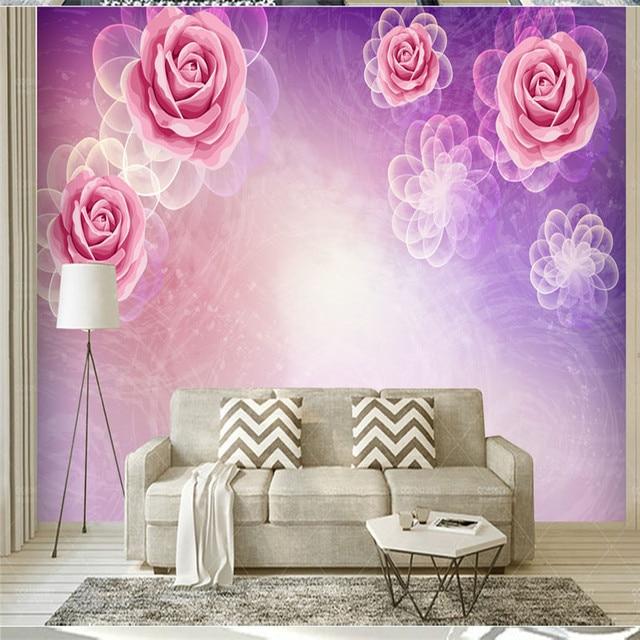 3D Custom Wall Murals European Style Study Wallpapers Vintage Rose ...