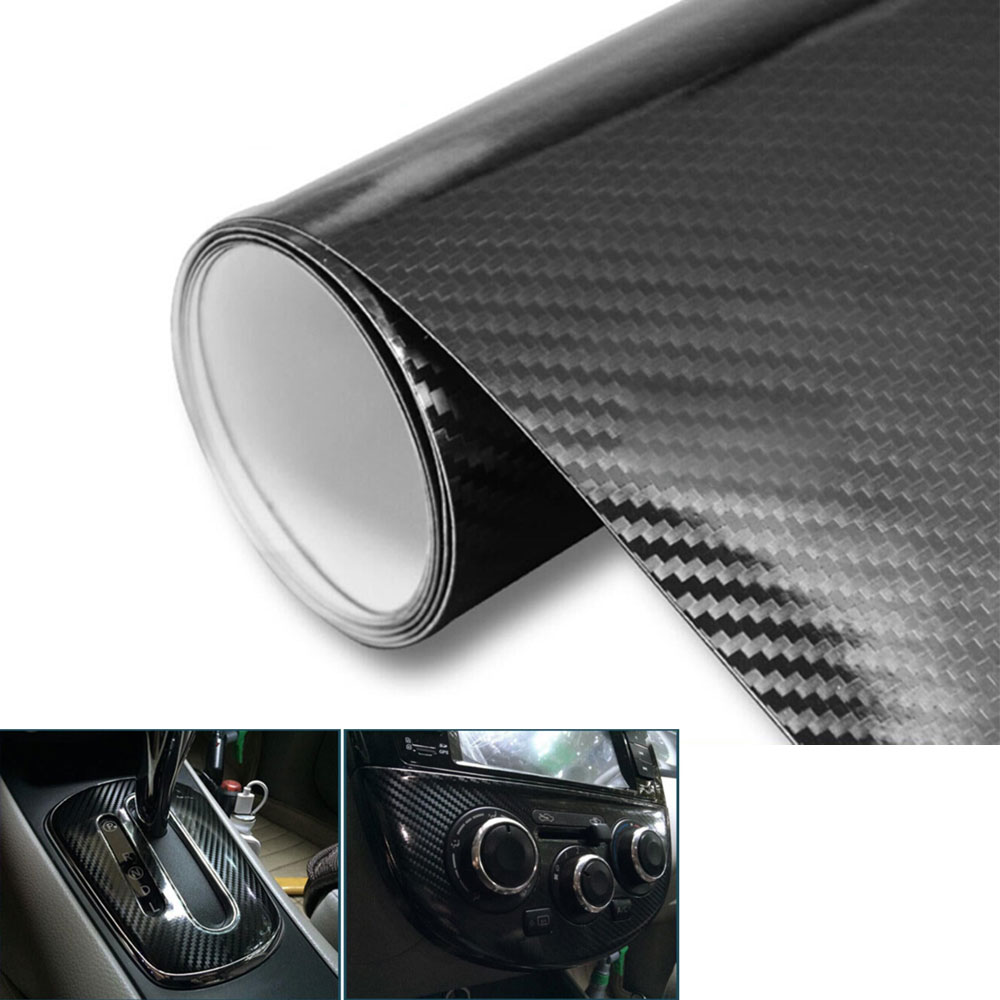 5D Shiny Carbon Fiber Ultra Vinyl Wrap Decal Sheet Film Black 20x60 For MDX RDX RLX TLX 4C A3 Quattro 2016 Car Styling Covers breathable car seat covers for acura all models mdx rdx zdx rl tl ilx tlx cdx car accessories auto sticker car styling
