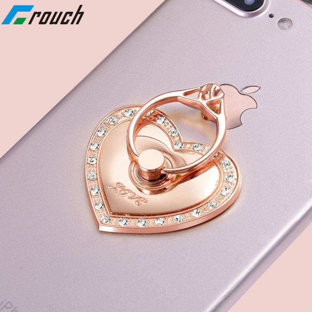 Liebe 360 Grad Finger Ring Handy Smartphone Ständer Halter Für iPhone iPad Xiaomi alle Smart Telefon Luxus Paar Modelle