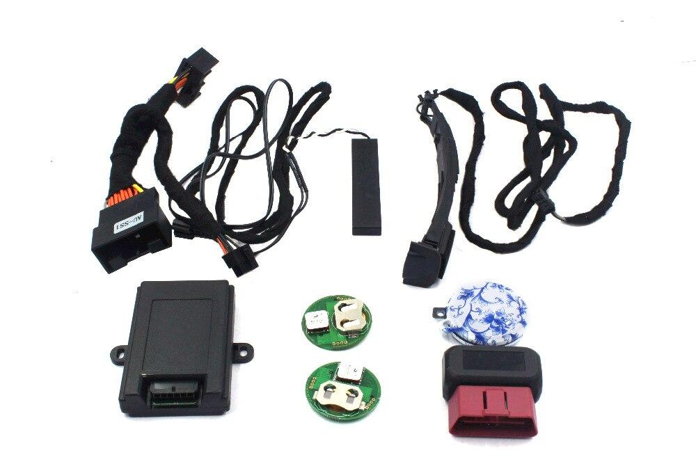 Système d'entrée sans clé PLUSOBD accès au confort serrure centrale PKE serrure intelligente alarme de voiture télécommande pour Audi A6L 2012-2017
