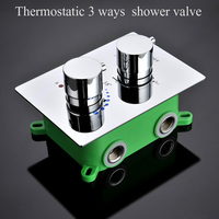 Quality Bathroom Shower Mixer Thermostatic 3 Functions Shower Valve/ embedded box