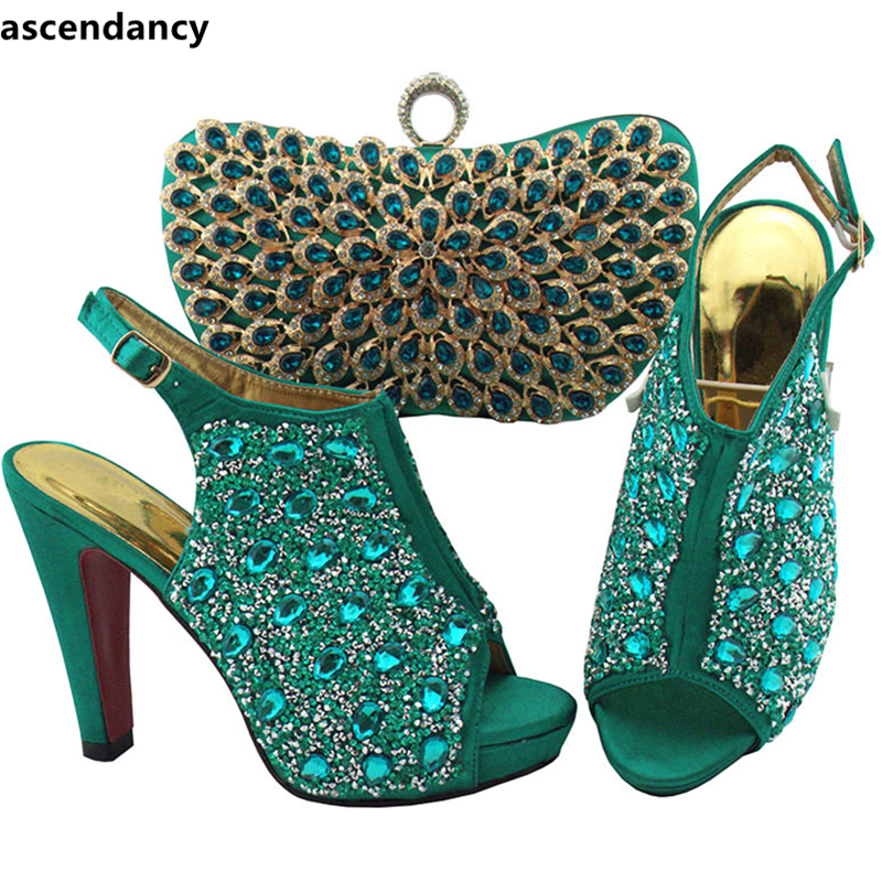 La Royal coral Green Talons Femmes pourpre noir Partie Army Italien Pour Haute Pompes Et Design Arrivée bleu Chaussures Parti teal Assorties Ensemble Nouvelle Set Sac US4OWq