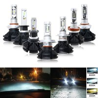 2Pcs Lot X3 H13 9008 HI LO Philips ZES Chip LED Headlight High Low Beam Conversation
