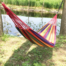 Hot Portable Hammock Outdoor Garden Hanging Bed for Home Travel Camping Hiking Swing Canvas Stripe