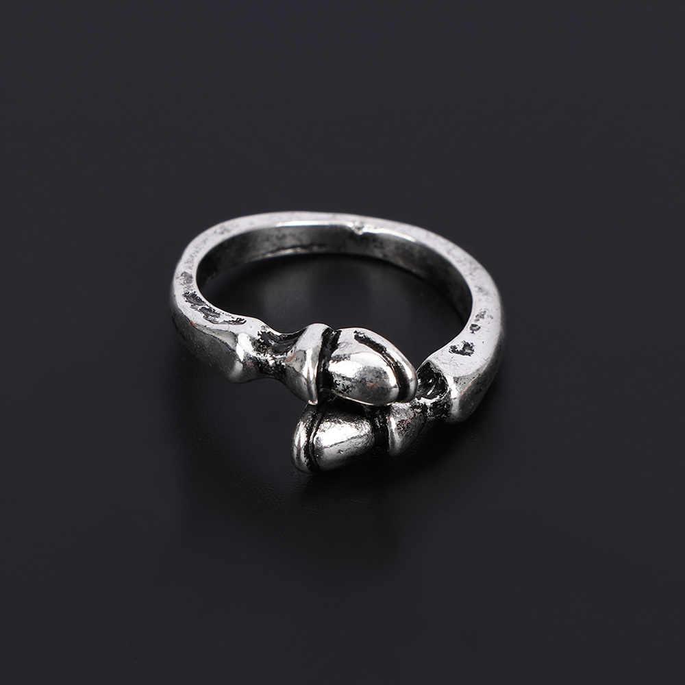 1 قطعة العصرية عشاق ريفي لاكي حدوة الحصان الدائري خمر الحيوان الحصان الفروسية مجوهرات خاتم مصمم من أجزاء متراصة