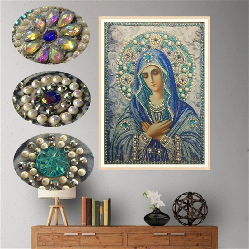 Special Shaped Round Crystal Drill 5D DIY  Diamond Painting Embroidery Icon Religion Rhinestones Cross Stitch Gift Decor-in Diamond Painting Cross Stitch from Home & Garden on Aliexpress.com | Alibaba Group