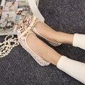 O envio gratuito de primavera/verão das mulheres calcanhar plana boca rasa sapatos único dedo do pé quadrado respirável grenadine plus size bota sapatos