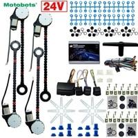 MOTOBOTS 1 Conjunto DC24V Car/Truck Universal 4 Portas Electronice kits de Janela de Poder Com 8 pçs/set Swithces & Harness