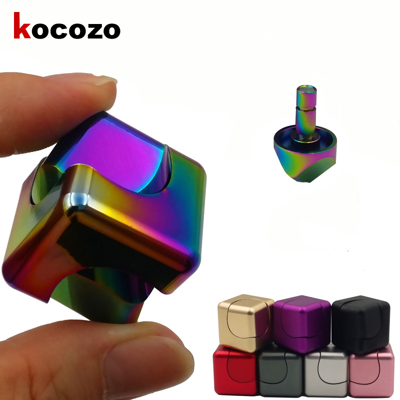 Metal Finger Spinner Fidget Cube EDC Hand Spinner For Autism and ADHD Kids Gift Relief Focus