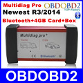 Multidiag Pro+ New Released R3/ 2014 Car/Truck Generic CDP TCS With 4GB Card+Bluetooth+Plastic Box New Design Multi-Language