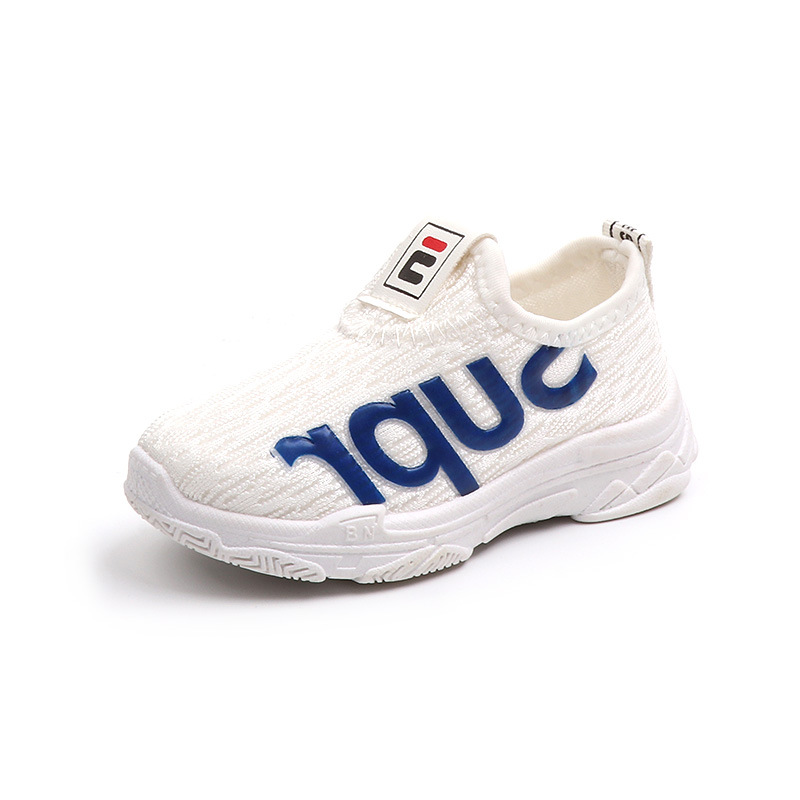 2019 Spring Children's Breathable Mesh Casual White Shoes Korean Fashion Boys And Girls Soft Bottom Set Foot Sports Shoes