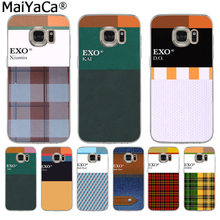 MaiYaCa Kpop exo Lucky one name Luxury High-end phone Accessories Case for Samsung S3 S4 S5 S6 S6edge S6plus S7 S7edge S8 S8plus(China)