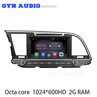 Octa Core Android 6 0 Car Dvd Gps For Hyundai Elantra 2016 With 1024 600 Screen