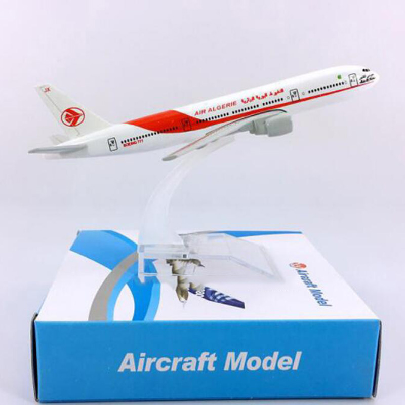 16CM 1:400 Boeing B777-200 Model Air Algeria Airlines Airways W Base Alloy Aircraft Plane Collectible Display Model Collection
