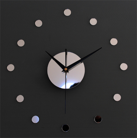 033130 wall clock safe modern design digital vintage large led kitchen decorative mirror gift Contracted beauty thickening time
