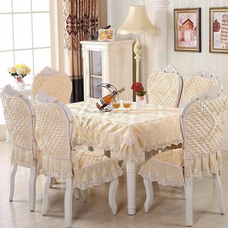 Europa Tisch Tuch Größe 130x180 Cm Stuhl Abdeckung Sitzkissen Set